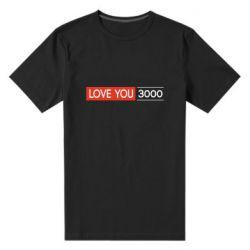 Мужская стрейчевая футболка Love you 3000