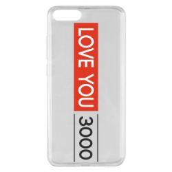 Чехол для Xiaomi Mi Note 3 Love you 3000