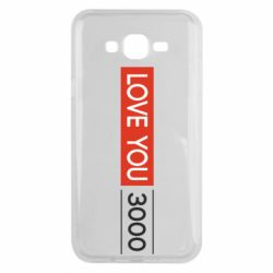 Чехол для Samsung J7 2015 Love you 3000