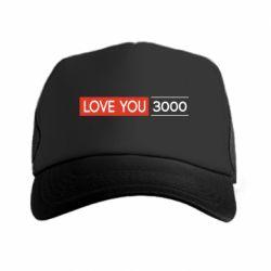 Кепка-тракер Love you 3000