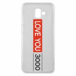 Чехол для Samsung J6 Plus 2018 Love you 3000