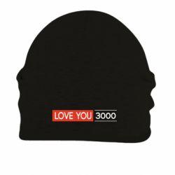 Шапка на флисе Love you 3000