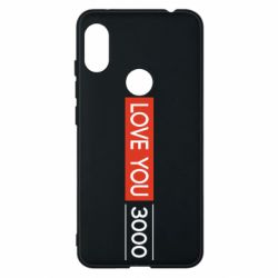 Чехол для Xiaomi Redmi Note 6 Pro Love you 3000