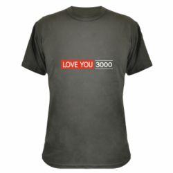 Камуфляжная футболка Love you 3000