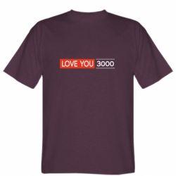 Мужская футболка Love you 3000