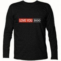Футболка с длинным рукавом Love you 3000