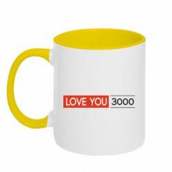 Кружка двухцветная 320ml Love you 3000