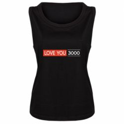 Женская майка Love you 3000