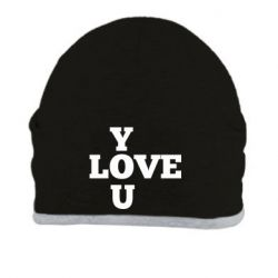 Шапка Love you text