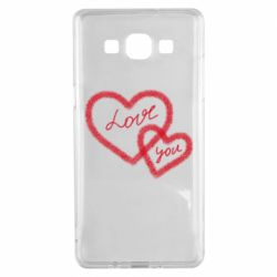 Чехол для Samsung A5 2015 Love you two heart