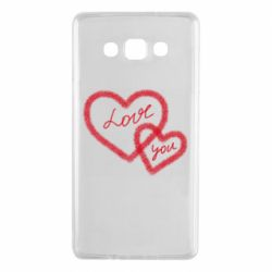 Чехол для Samsung A7 2015 Love you two heart