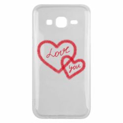 Чехол для Samsung J5 2015 Love you two heart