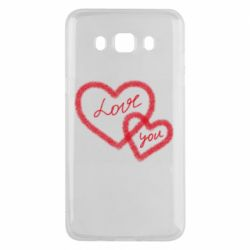 Чехол для Samsung J5 2016 Love you two heart