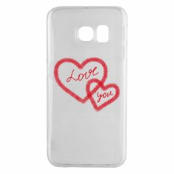 Чехол для Samsung S6 EDGE Love you two heart