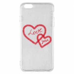 Чехол для iPhone 6 Plus/6S Plus Love you two heart