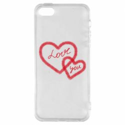 Чехол для iPhone5/5S/SE Love you two heart