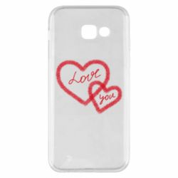 Чехол для Samsung A5 2017 Love you two heart