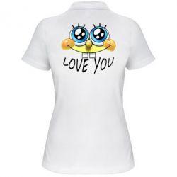 Женская футболка поло Love you