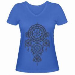 Купить Женская футболка с V-образным вырезом Lovec snov, FatLine
