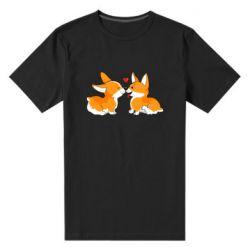 Мужская стрейчевая футболка Loving Corgi Couple