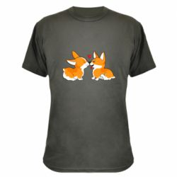 Камуфляжная футболка Loving Corgi Couple