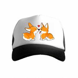 Детская кепка-тракер Loving Corgi Couple