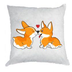 Подушка Loving Corgi Couple