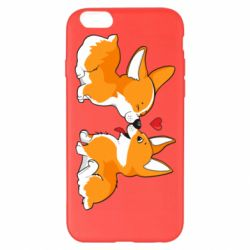 Чехол для iPhone 6 Plus/6S Plus Loving Corgi Couple