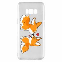 Чехол для Samsung S8+ Loving Corgi Couple