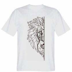 Чоловіча футболка Low poly lion head