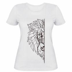 Жіноча футболка Low poly lion head