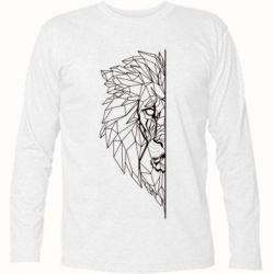 Футболка з довгим рукавом Low poly lion head