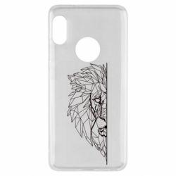 Чохол для Xiaomi Redmi Note 5 Low poly lion head