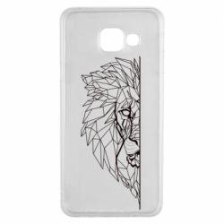 Чохол для Samsung A3 2016 Low poly lion head