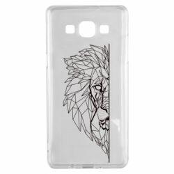 Чохол для Samsung A5 2015 Low poly lion head