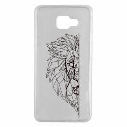 Чохол для Samsung A7 2016 Low poly lion head