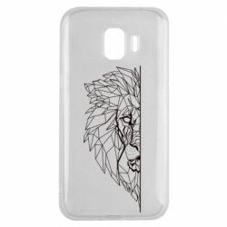 Чохол для Samsung J2 2018 Low poly lion head