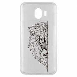 Чохол для Samsung J4 Low poly lion head