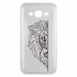 Чохол для Samsung J5 2015 Low poly lion head