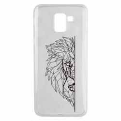 Чохол для Samsung J6 Low poly lion head