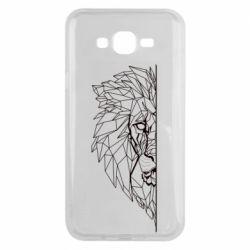 Чохол для Samsung J7 2015 Low poly lion head