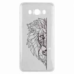 Чохол для Samsung J7 2016 Low poly lion head
