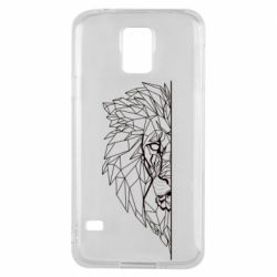 Чохол для Samsung S5 Low poly lion head