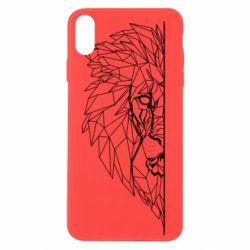 Чохол для iPhone Xs Max Low poly lion head