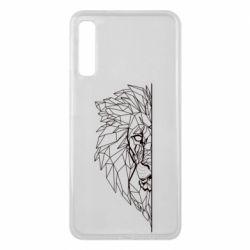 Чохол для Samsung A7 2018 Low poly lion head
