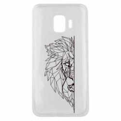Чохол для Samsung J2 Core Low poly lion head