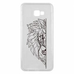 Чохол для Samsung J4 Plus 2018 Low poly lion head