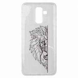 Чохол для Samsung J8 2018 Low poly lion head