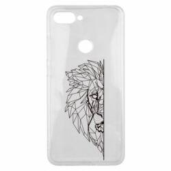 Чохол для Xiaomi Mi8 Lite Low poly lion head