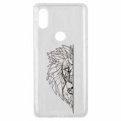 Чохол для Xiaomi Mi Mix 3 Low poly lion head